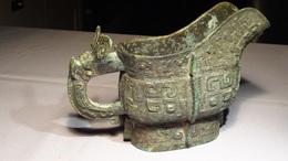 Rare Chinese Antique Bronze Wine Cup - Arte Asiatica