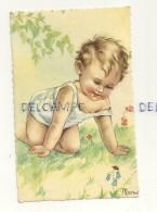Bébé Qui Joue Dans L'herbe, Coccinelle. Signée Mariapia - Sin Clasificación