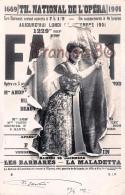 Théatre National De L'Opéra - Faust - Les Barbares La Maladetta - Artiste Surréalisme Dans Journal Déchiré 1901 - Théâtre
