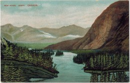 "CANADA ALBERTE BANFF  : "" Bow River  "" - Banff"