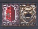 Peru 2011 ** YT1990-91 America Upaep, Buzones. Historia Del Correo. See Desc. - Pérou