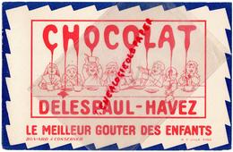 59 - LILLE - BUVARD CHOCOLAT DELESPAUL HAVEZ - ENFANTS PETIT DEJEUNER - Cacao