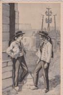 C P A HOMUALK TYPES DE COSTUMES DE FRANCE BRETAGNE PLOUGASTEL SÉRIE 1  N° 29 - Homualk