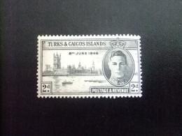 Turks And Caicos Islands 1946 ANNIVERSAIRE De La VICTOIRE GEORGE VI Yvert N º 132 * MH