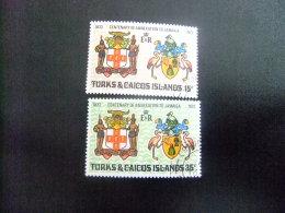TURKS And CAICOS Islands 1973 CENTENAIRE Du RATTACHEMENT à La JAMAÏQUE Yvert N º 303 / 04 º FU