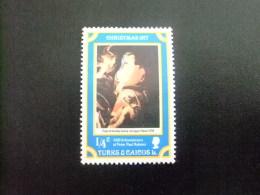 TURKS And CAICOS Islands 1977 NOEL TABLEAUX RUBENS  Yvert N º 373 º FU