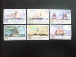 TURKS And CAICOS Islands 1973 NAVIGATION ( BATEAUX ANCIENS ) Yvert N º 305 / 310 º FU