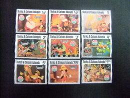 TURKS And CAICOS Islands 1980 NOEL PINOCCHIO WALT DISNEY Yvert N º 495 / 503 ** MNH