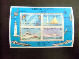TURKS And CAICOS Islands 1978 CHENAL Des ÎLES TURKS ET CAÏCOS Yvert N º Bloc 9 ** MNH