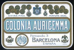 Barcelona *Colonia Aurigemma. Cañadó* Meds: 118 X 174 Mms. - Etiquetas