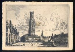 Bruges. Lote 2 Grabados Sin Firma. Meds: 110 X 160 Mms. - Documentos Antiguos