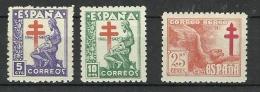 ESPAÑA 1946 EDIFIL 1008/10 ** MNH - 1931-Heute: 2. Rep. - ... Juan Carlos I