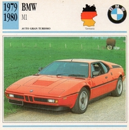 """Auto Da Collezione """"BMW  1979  M1"""" (Germania) - Motori"""