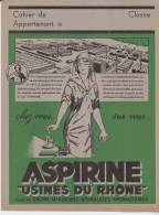 Protège Cahier Aspirine Usines Du Rhone - Book Covers