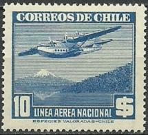 CHILE CORREO AEREO ** MNH 1947 Mi:CL 285, Yt:CL PA120 ** - Cile