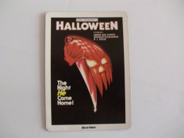 Cinema Films Movies Halloween Portugal Portuguese Pocket Calendar 1987 - Calendari