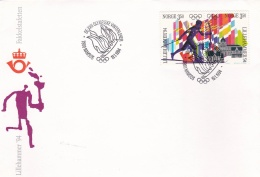 Norway Cover 1994 Namsos Torch Relay Olympic Wintergames Lillehammer (G86-6)