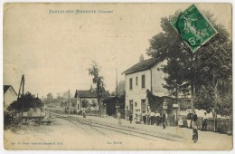 """VOSGES SAULCY Sur MEURTHE : """" La Gare """" Edition Weick St Dié Légendes Inscrite En Bleu - France"""