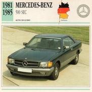 """Auto Da Collezione """"Mercedes-Benz  1981   500 SEC"""" (Germania) - Motori"""
