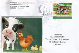 Année Internationale De L'Agriculture Familiale (2014), Belle Lettre De Bielorussie (Belarus), Adressée ANDORRA - Agriculture