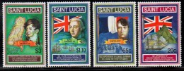 2001 Saint Lucia Civil Administration Napoleon  Complete Set Of 4  MNH - St.Lucia (1979-...)