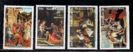 2002 Saint Lucia Christmas Art Paintings  Complete Set Of 4  MNH