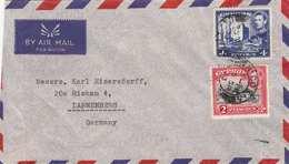 CYPRUS 1953 - 2 Sondermarken Auf FP-Brief Von Zypern Nach Dannenberg - Zypern