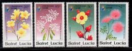 1998 Saint Lucia Christmas Flowers   Complete Set Of 4  MNH