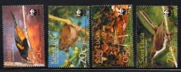 2001 Saint Lucia WWF Birds   Complete Set Of 4 MNH