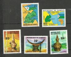 Djibouti N°458 à 462 Neufs** Cote 5.10 Euros