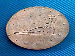 04206 ELONGATED COIN TOKEN EROTIC CLUB  21 - Pièces écrasées (Elongated Coins)