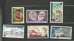 Djibouti N°468 à 472 Et Poste Aérienne N°114 Neufs** Cote 10.30 Euros