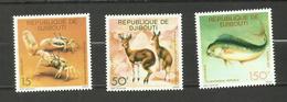 Djibouti N°473 à 475 Neufs** Cote 7.30 Euros
