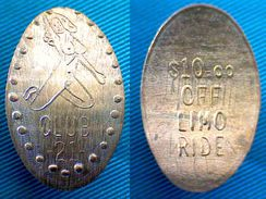 04339 ELONGATED COIN TOKEN EROTIC CLUB  21 $10 OFF LIMO RIDE - Pièces écrasées (Elongated Coins)