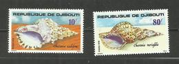 Djibouti N°486, 487 Neufs** Cote 4.20 Euros