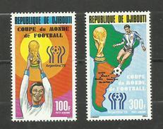Djibouti POSTE AERIENNE N°121, 122 Neufs** Cote 7.80 Euros