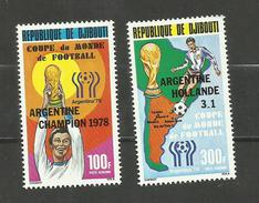 Djibouti POSTE AERIENNE N°123, 124 Neufs** Cote 10 Euros