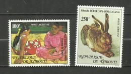 Djibouti POSTE AERIENNE N°125, 126 Neufs** Cote 9.85 Euros