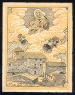 Les Fonts De Terrassa *... Bendición De Campanas... 1941* Impreso. Meds.: 123 X 152 Mms. - Sin Clasificación