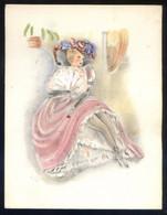 Impreso Coloreado A Mano. Meds.: 119 X 155 Mms. - Documentos Antiguos