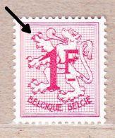 1959 R6** Of 1027Bb Zonder Scharnier:1F Helrood-wit Papier (Licht Gewijzigd Type:raster) - Franqueo
