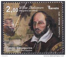 BOSNA AND HERZEGOVINA 2014 450 YEARS OF WILLIAM SAKESPEARE
