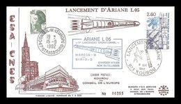 1 05     003      -          L05 - 09/09/1982 - Ariane 1 -  Marecs-B/Sirio   -   Echec