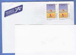 BELGIEN 2003 - 2 Sondermarken Auf Brief Gel.n.Wien - Belgien