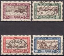Liechtenstein MiNr. 78/81 O Hilfe Für Die Hochwassergeschädigten