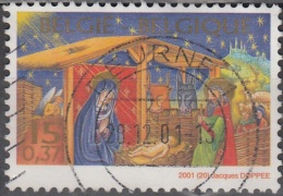 Belgique 2001 COB 3044 O Cote (2016) 0.85 Euro Crêche De Noël Cachet Rond - Gebraucht