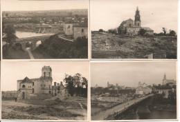 1940/41 - GRODNO, 4 Orginal Foto 9,5X6,5cm, 4 Scan - Belarus