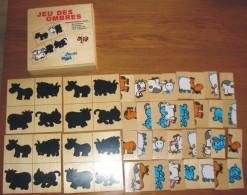 Jeu De Société Les Ombres Tout En Bois  17 X 17 X 4 Cm Très Bon état - Puzzle Games