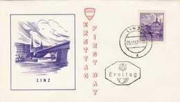 ÖSTERREICH 1962 - 2,5 S Linz Auf Erstagsbrief - FDC