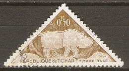 TCHAD    -   HIPPOPOTAME  -   Oblitéré.